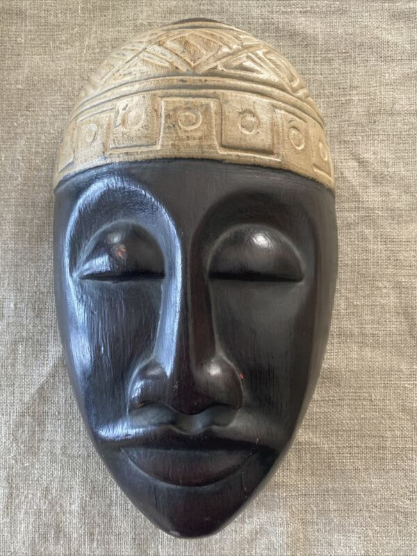 Indonesian Timorese Warrior Carved Wood Mask