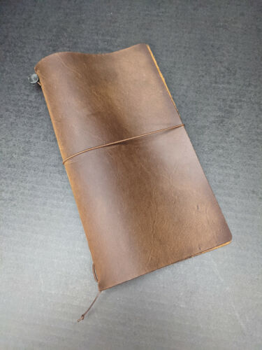 Brown Midori Travelers Notebook Used Condition Regular Size
