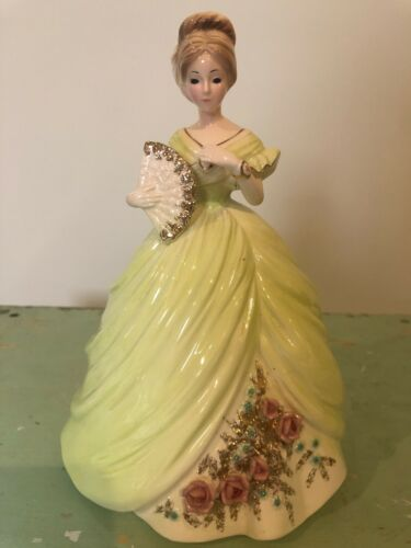 Vintage Josef Originals Southern Belle Figurine with Fan