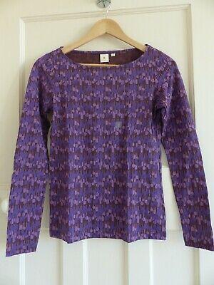 Orla Kiely for Uniqlo Graphic Long Sleeve T-Shirt Purple BNWT