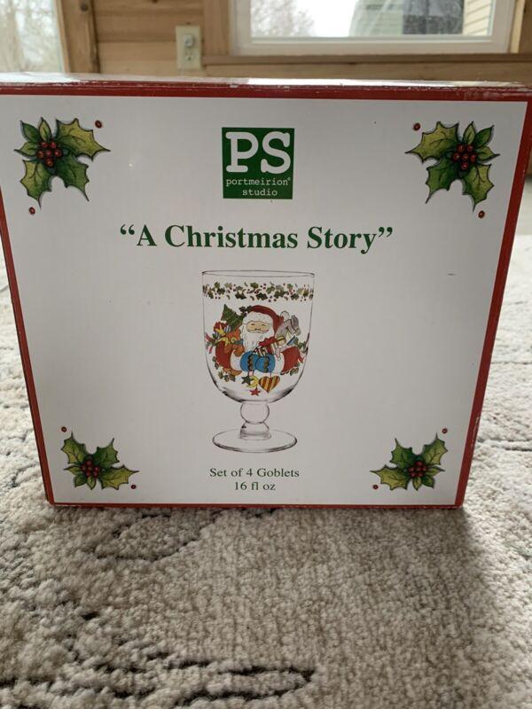 "Portmeirion ""A Christmas Story"" Goblets"