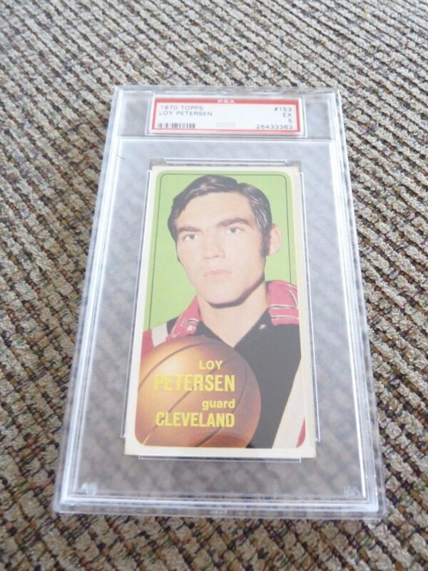 Loy Peterson 1970 Topps Tall Boy #153 Basketball Card PSA Graded Slabbed EX 5
