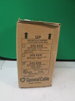 400ft General Cable 622 Asw 6tpr 22awg Gsdw 2090018 6c22awg 6 Twisted Pair