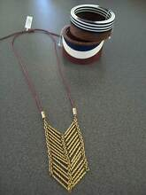 NEW JAG JEWELLERY - 2 RESIN BANGLES & GOLD PENDANT NECKLACE Blacksmiths Lake Macquarie Area Preview