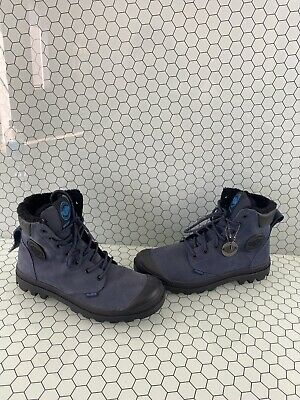 Palladium Navy Blue Insulated Lace Up Waterproof Winter Boots Men's Size 9