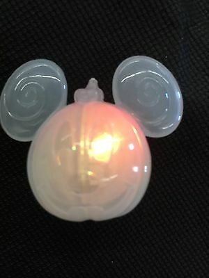 (3) NEW Disney Parks Mickey Mouse Pumpkin Halloween Light LED Glow Ice Cube - Glow Ice Cube
