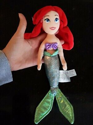 Disney Store Small Ariel Little Mermaid Doll Plush 12 inch from head to tail