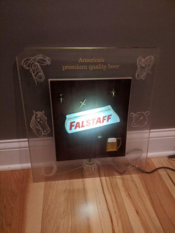 Vintage Falstaff Lighted Beer Sign Damaged Working 19x17