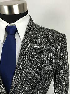 36R New Cellini Mens Linen & Silk Double Breasted Blazer Sport Coat NOS