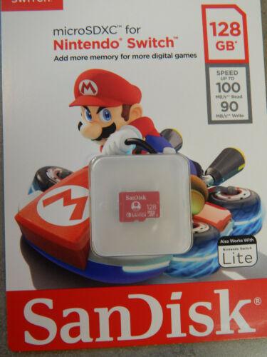 BRAND NEW SANDISK MICROSDXC FOR NINTENDO SWITCH 128GB