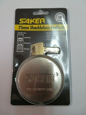 Lot 1246 Or 12 Pcs 73mm Saker Puck Shackleless Pad Lock