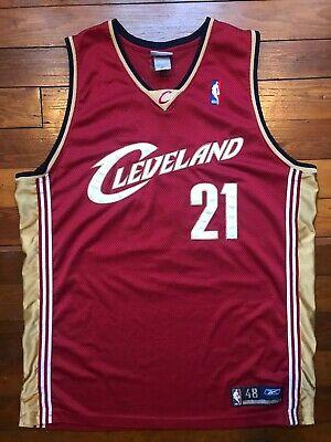 MINT Authentic Darius Miles Men's 48 L XL Cleveland Cavaliers Reebok  NBA Jersey