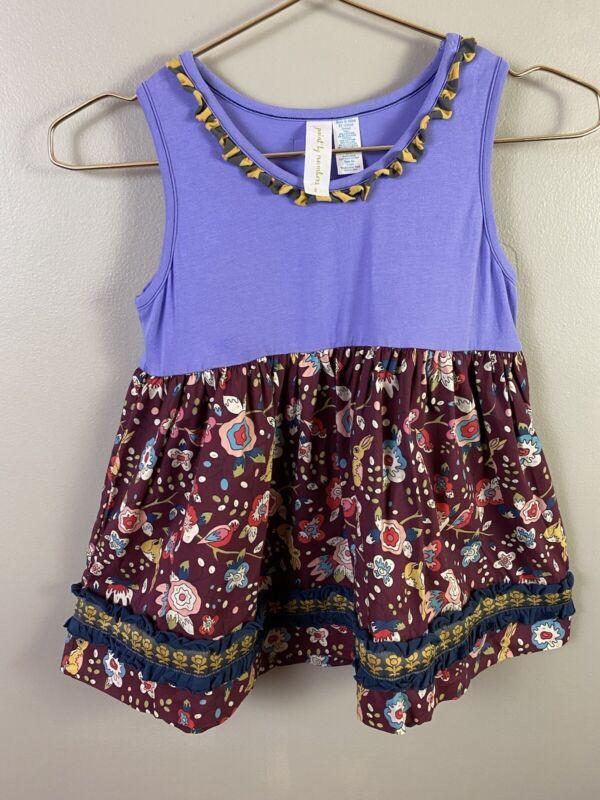 "Matilda Jane Boutique ""Paint By Numbers""Sleeveless Dress Sz 8 Bunny Bird Print"