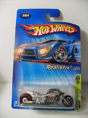 "2005 HOT WHEELS First Edition ""AIRY 8"" REALISTIX IN SILVER"