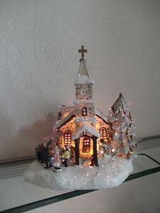 Weihnachtshaus Lichterhaus Weihnachtsdeko Dorfkirche  Weihnachtsbeleuchtung LED