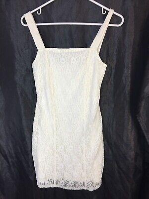 Cream Lace Dress (Hollister By Abercrombie Women's Junior Cream Lace Dress Sleeveless Size Small )