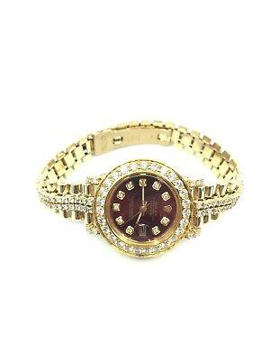 Rolex Datejust 18k Yellow Gold w/Diamond Bezel & Band(Double Row)
