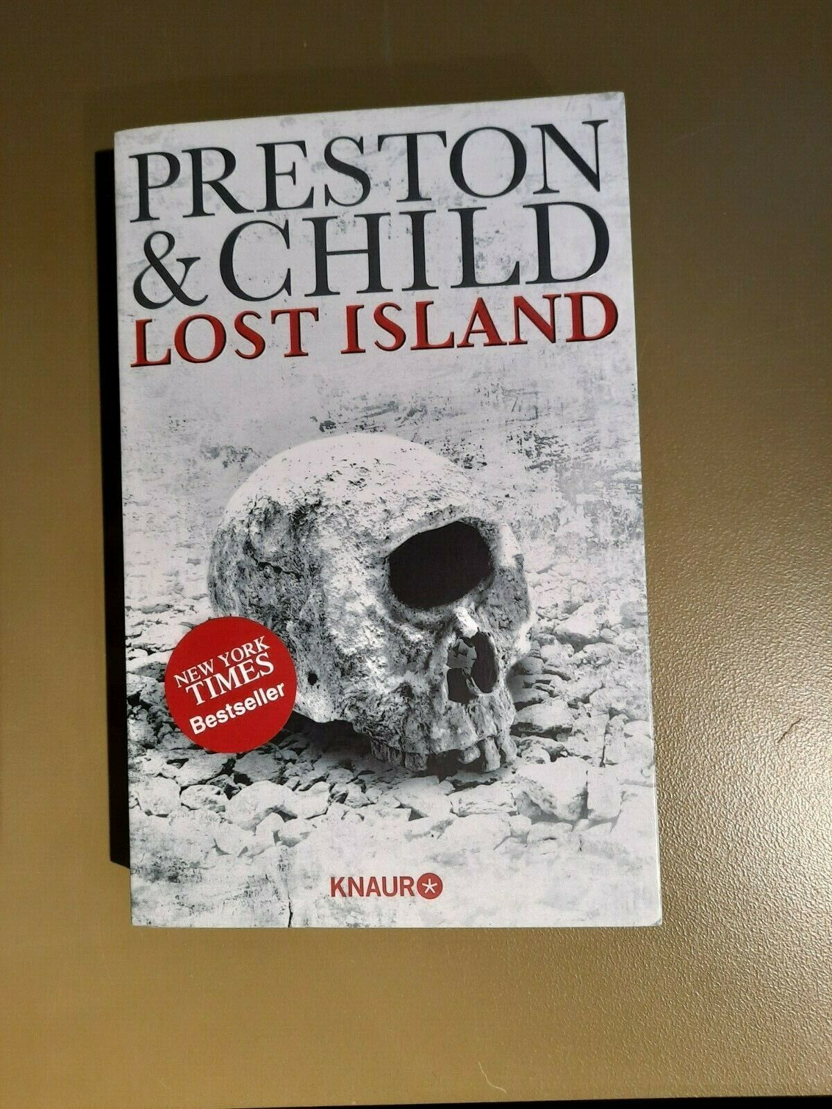 LOST ISLAND @ Preston & Child@Klappbroschur@Bestseller-Thriller@Zustand sehr gut