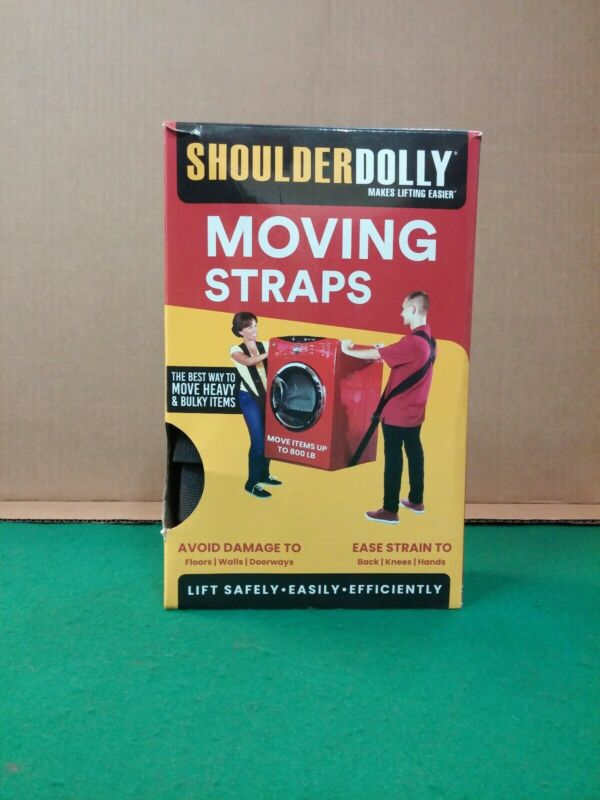 Shoulder Dolly Moving Straps 2 Harness Set New Open Box