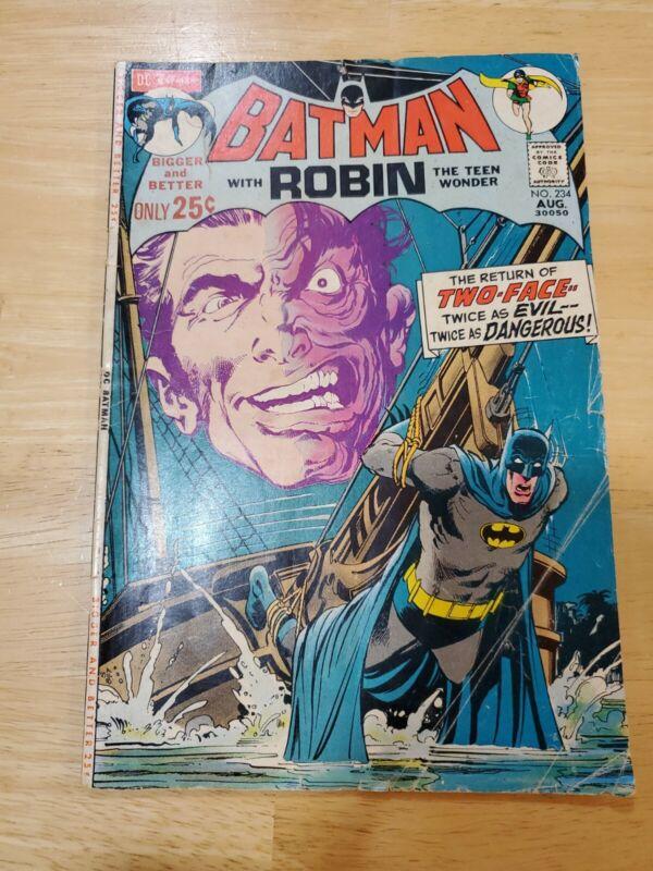 Batman 234 1st Silver Age Two-Face 52 Page Comic