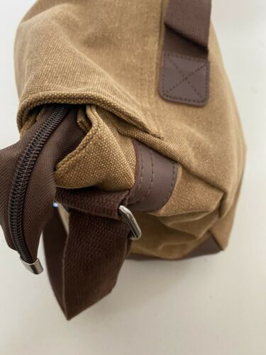 gregg norman messanger bag canvas and leather . New with tags 4