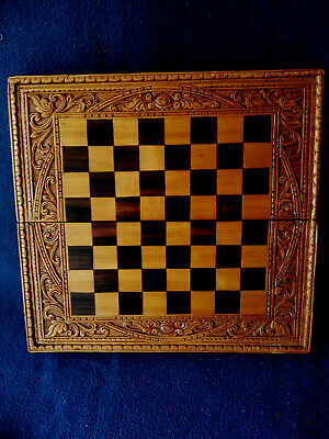 Backgammon Schach Dame Spielbrett aus Holz Tavla Star Schachbrett Gold Braun