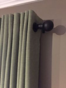Curtains X 2 sage lined