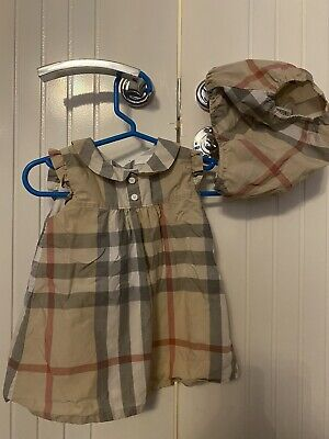 Authentic Burberry Baby Girl Dress With Bloomers Size 6 Months