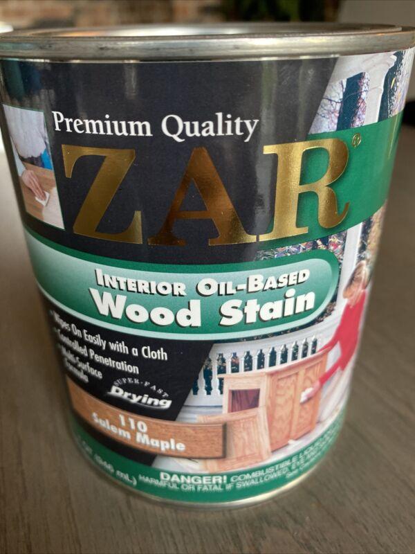 Quart Can ZAR 110 SALEM MAPLE Oil Based Interior Wood Stain 11012 15J26