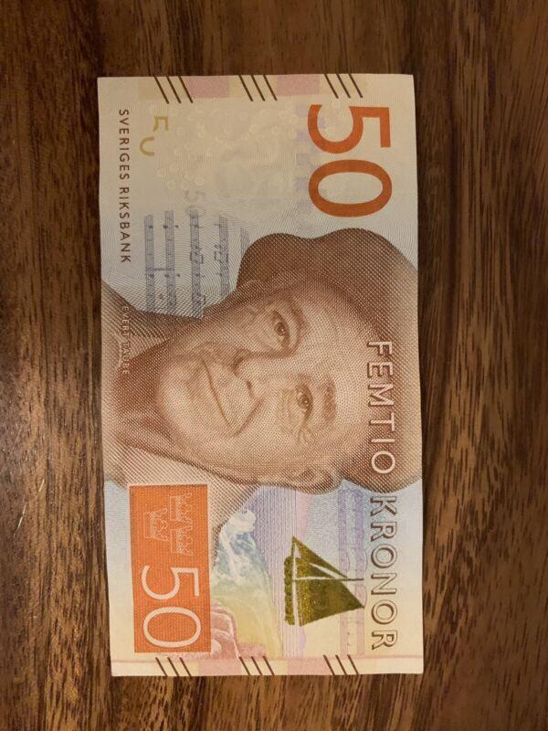 SWEDEN 50 Banknote KRONOR, Swedish 50 Krona Note, Single Banknotes, Circulated.
