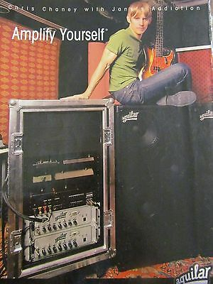 Jane's Addiction, Chris Chaney, Aguilar Amplifiers, Full Page Promotional Ad