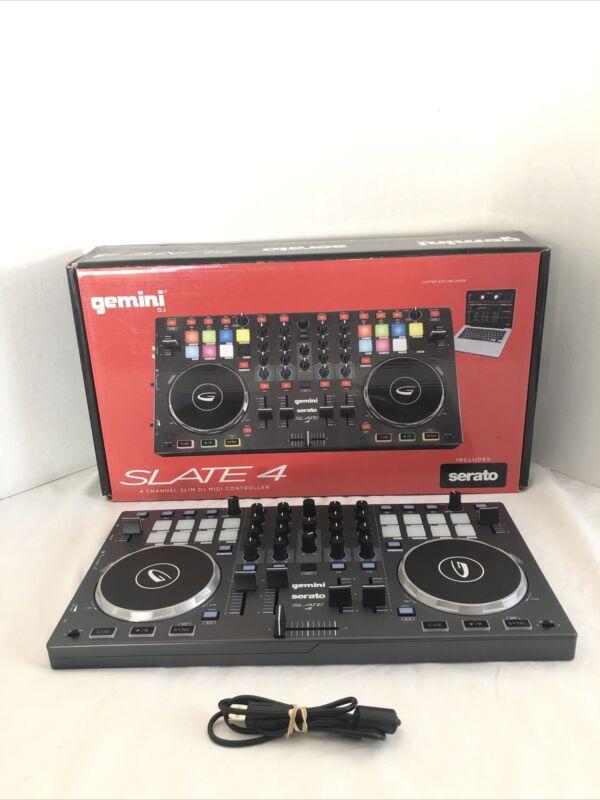 Gemini DJ SLATE 4 USB/MIDI 4-Channel DJ Controller Used Great Shape Mint