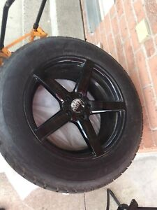 "RUFFINO 18"" WHEE RIM ON GOOD YEAR WINTER TIRES 235/65/18"