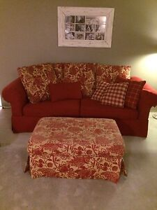 Red Comfy Couch Peterborough Peterborough Area image 1