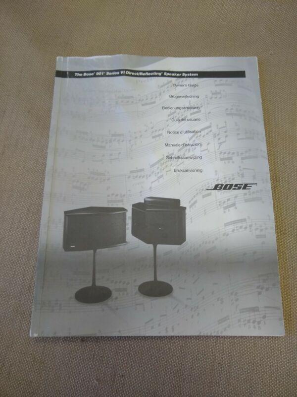 BOSE 901 SERIES VI Owners Manual  English Dansk Deutsch Espanol Italiano Svenska