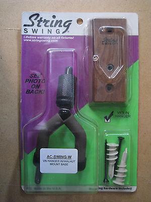 String Swing Home & Studio Violin Hanger - Walnut wood ()