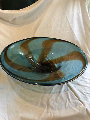 Tim Lazer hand blown Glass Platter