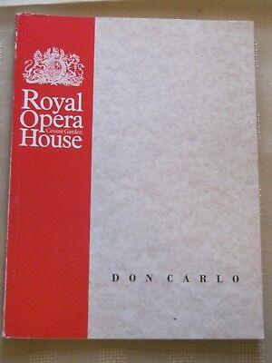Royal Opera House Program / 28 MARCH 1989 / DONCARLO / RICHARD ARMSTRONG