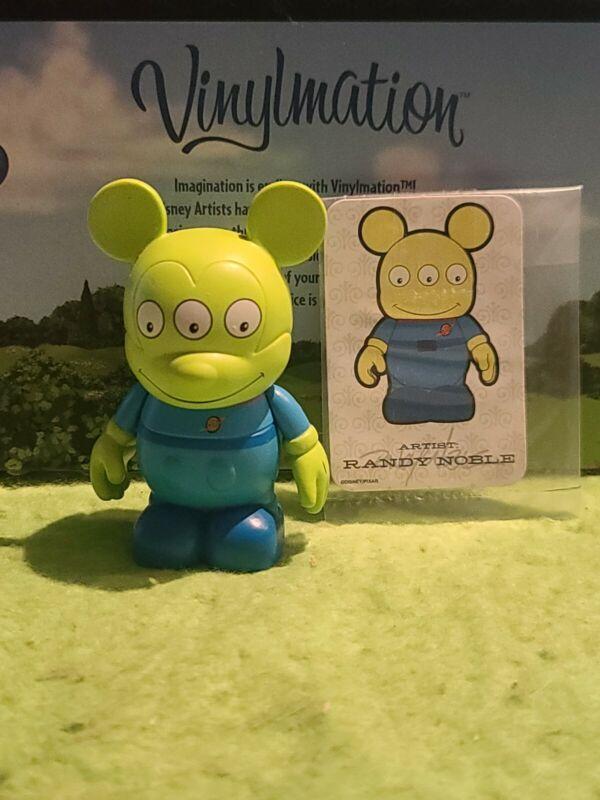 "DISNEY Vinylmation Park - 3"" Park Set 2 Green Men Alien Toy Story with Card"