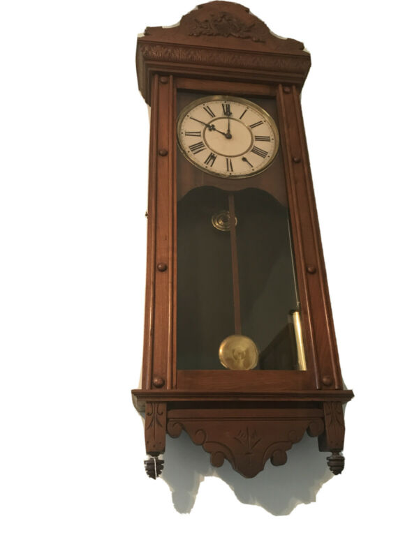 Antique Waterbury Weight Driven Wall Clock