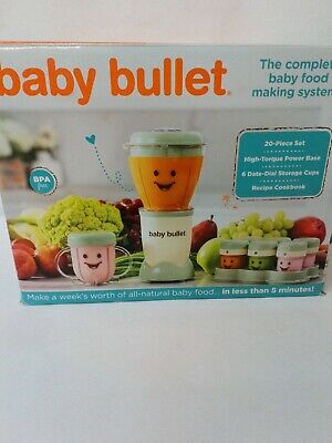 Magic Baby Bullet Food Blender System Batch Tray 12 Date Dial Storage Cups
