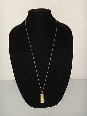 MICHAEL KORS Women's Yellow Gold Long Necklace Clear Acetate Pendant