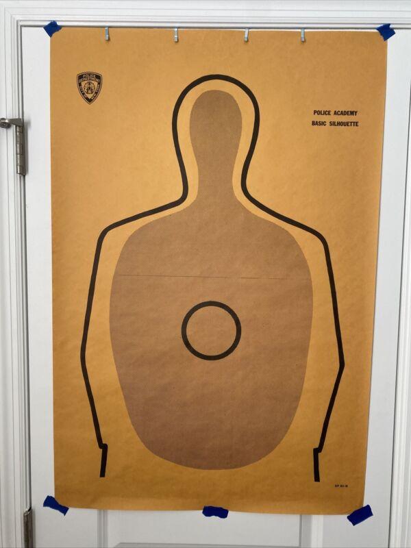 Vintage Rare NYPD Police Academy Training Firing Gun Range Silhouette Target