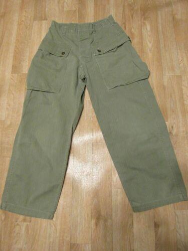 WWII USMC HBT P44 Monkey Pants 1940s Herringbone trousers WW2