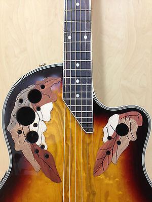 "41"" Caraya Round Back Semi-Acoustic Guitar EQ,Cut-away+Free Gig Bag SP-723CEQ/BS"
