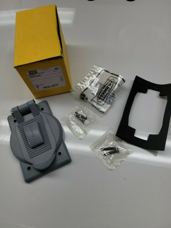 Hubbell Weatherproof Cover,thermoplastic,gray P5684.nib. Free Shipping!!!