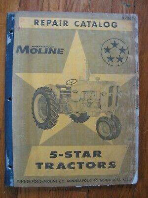5 Star 5-star Minneapolis Moline Repair Parts Catalog Manual Original