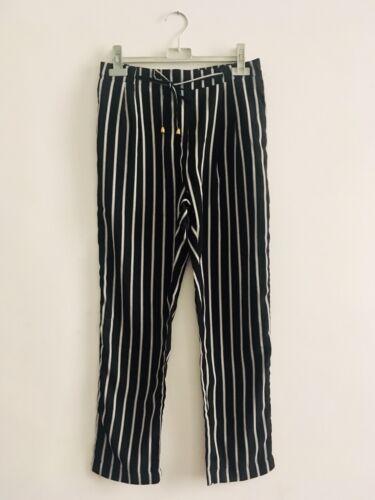 Pantalon fluide rayé noir et blanc m