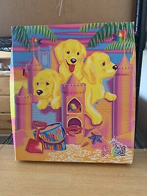 Vintage Lisa Frank SANDCASTLE PUPPIES Large Stationery Box Tape Address Book  ()