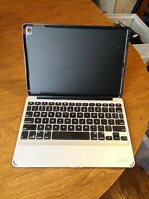 ZAGG Slim Book Ultrathin Case,  Detachable Backlit Keyboard IPAD AIR pre owned